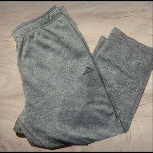 Adidas grey on grey jogger  sweat pants size xl